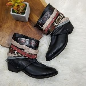 Zara Pull On Boots with Belts & Straps
